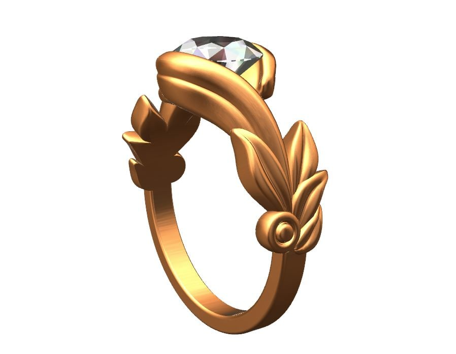 3d forest ring solitaire