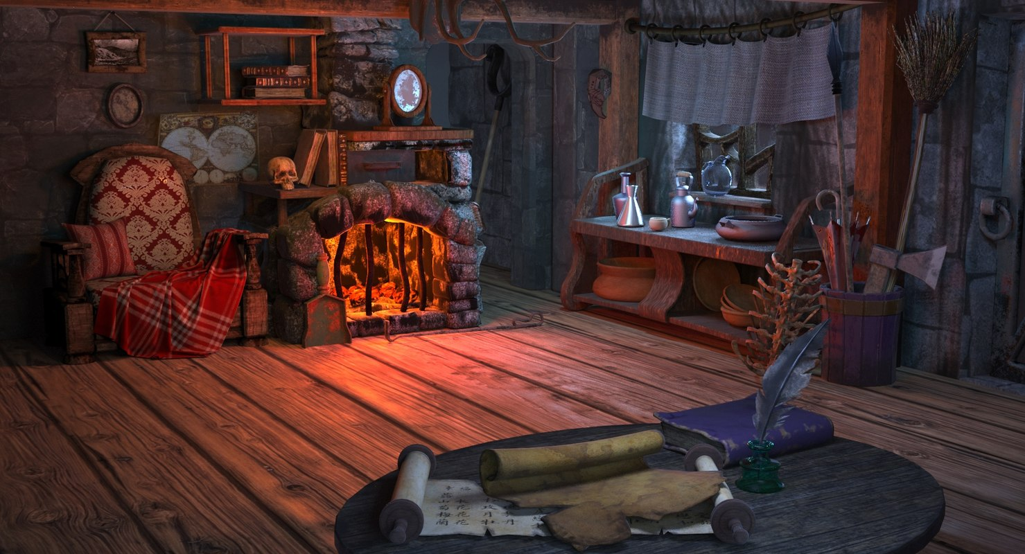dwelling witches 3d obj