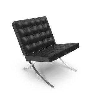 barcelona chair 3d max