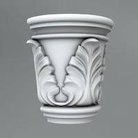classical decoration ornamental c4d