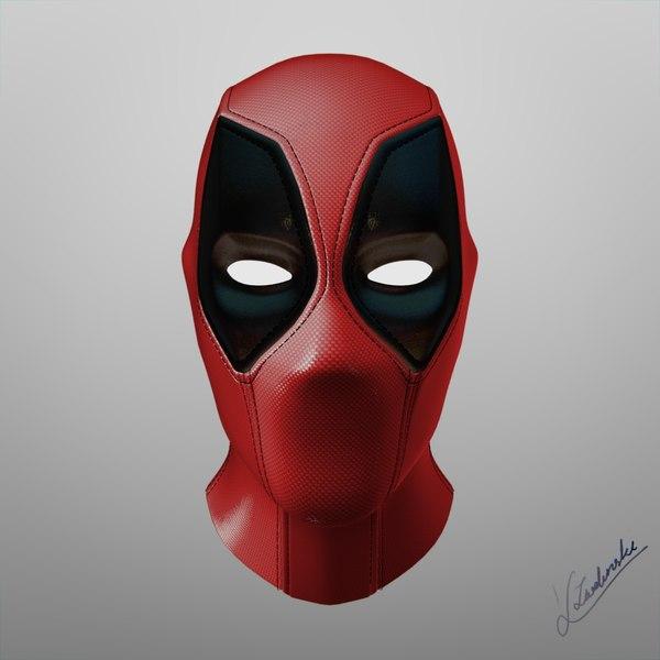 deadpool head fbx