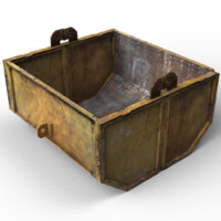 rusty container 3d 3ds