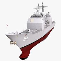 USS Gettysburg CG-64 3D model