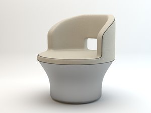 3d model circular armchair