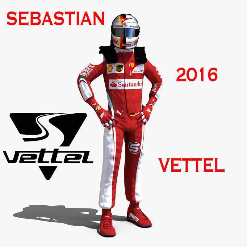 c4d sebastian vettel 2016