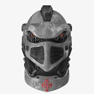 helmet sci-fi sci 3d model