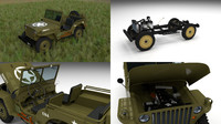 military jeep willys hdri 3d model