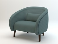oleg armchair 3d model