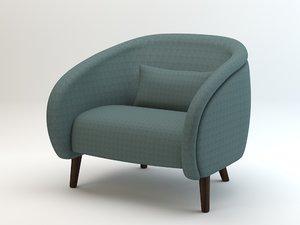 oleg armchair 3d model