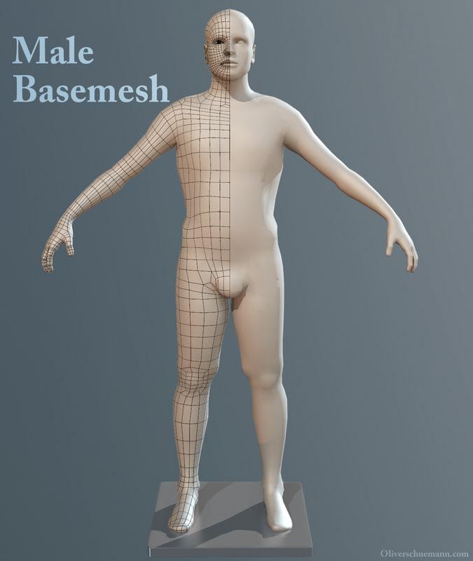 male sculpting obj