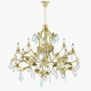 obj la lampada l chandelier