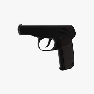 russian pistol pmm 3d max