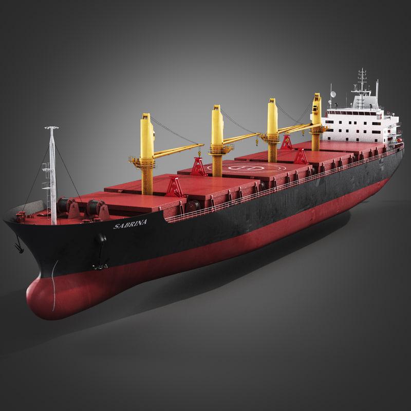bulk carrier ship 3ds