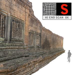 3d model acient walls 8k