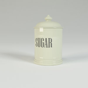 ceramic sugar jar 3d 3ds