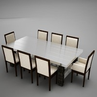 3ds max dinning table