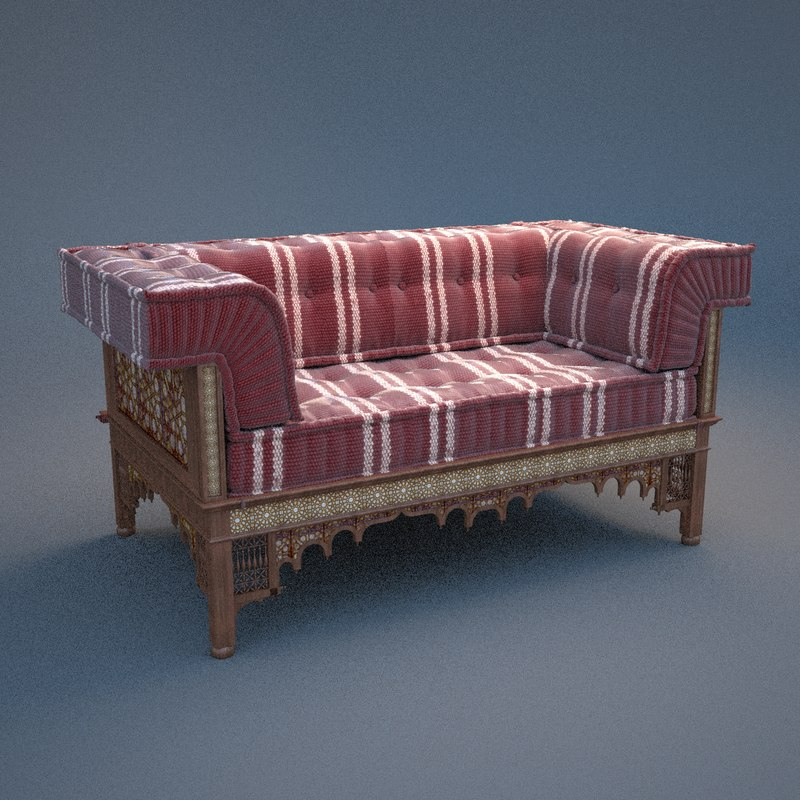 couch islamic 3d max