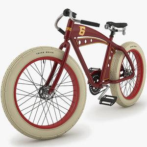 3d model retro bicycle
