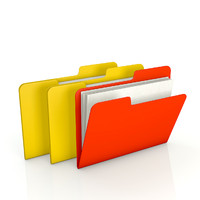 Office file folders - closed and opened