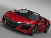 3d acura nsx cabriolet 2017