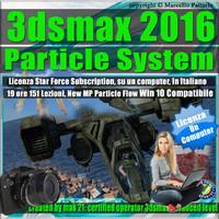 3ds max 2016 Particle System e Particle Flow Locked Subscription , un Computer.