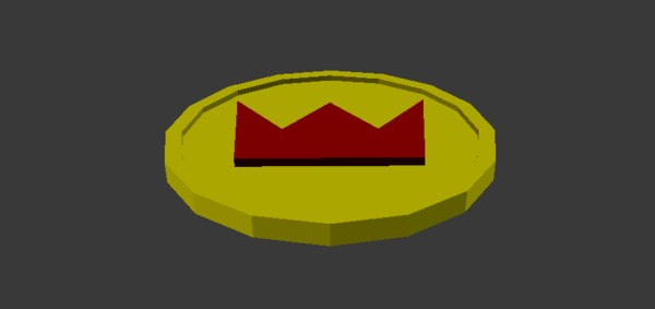 coin crown 3d obj
