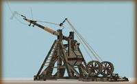 3d model of trebuchet museum exhibit