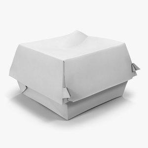 3d burger box 2 generic