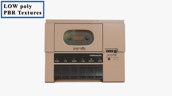 cassette recorder phonemark 3d model