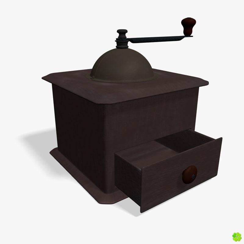 grinder coffee grind 3d model