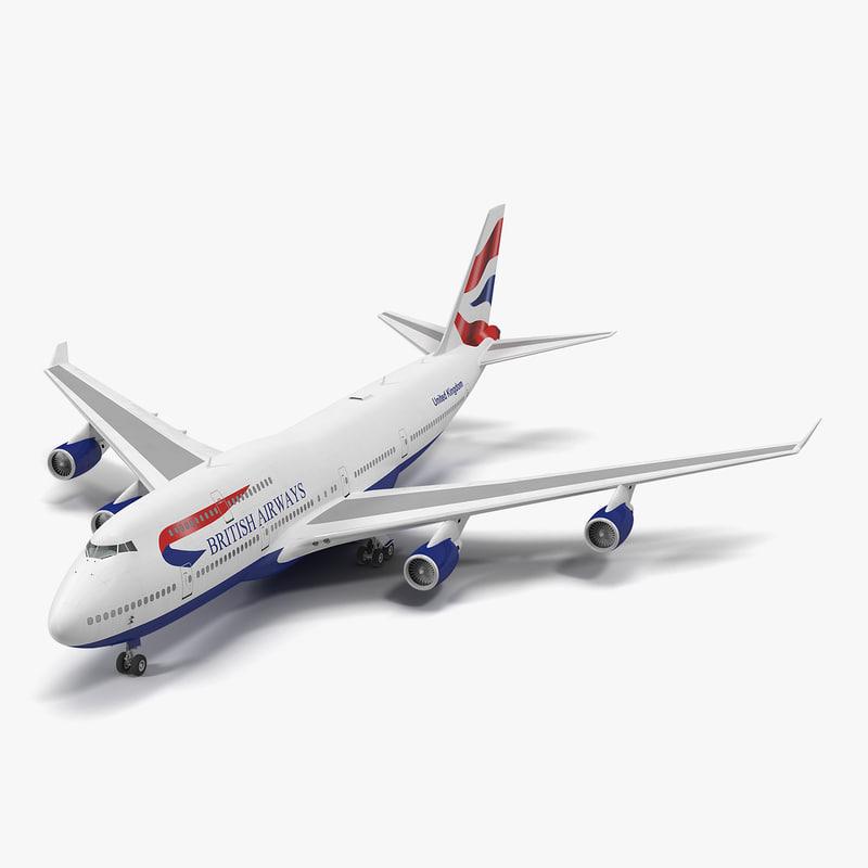 3d 3ds boeing 747-400er british airways