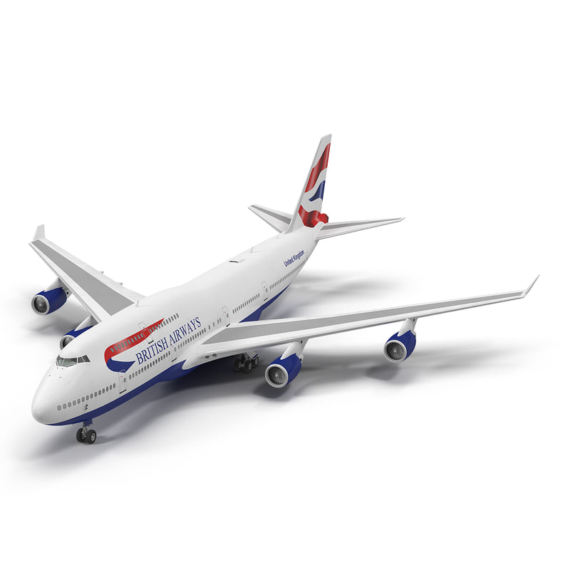 3d 3ds boeing 747-400er british airways