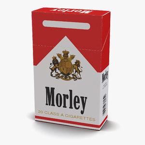 closed cigarettes pack morley 3d model