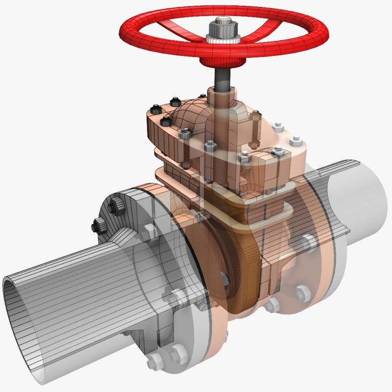 3d gate valve 1
