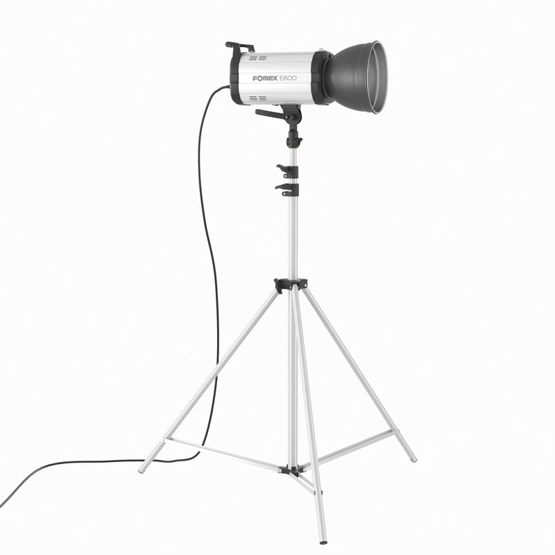 3d model studio flash light fomex