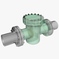 non-return valve 2 3d max