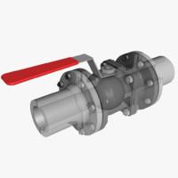 3d model ball valve