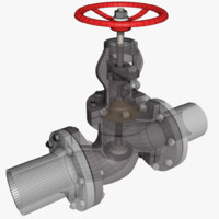 globe valve 1 3d model