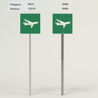 3d model flying aircraft signs