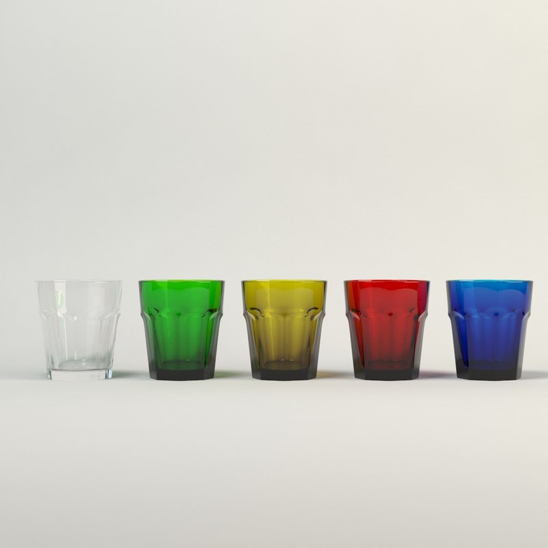 drink glass colors 3d max