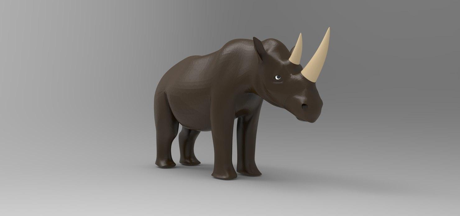 3d rhinocerous model