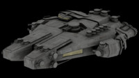 spacecraft spaceship 3d 3ds