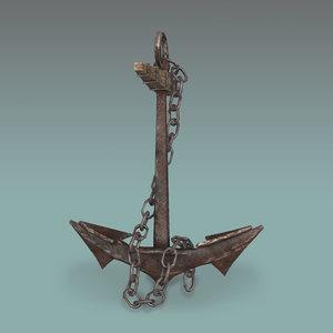 3d model anchor old