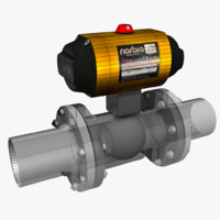 tight shut-off valve 3d model