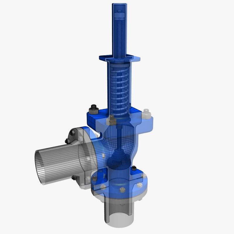 pressure relief valve 1 3d max