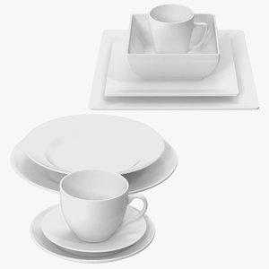 dishware sets 3d model