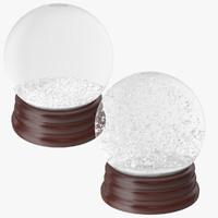 3d model snow globes