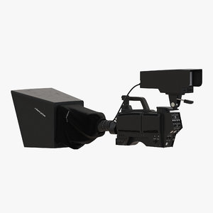 tv studio camera generic 3d max