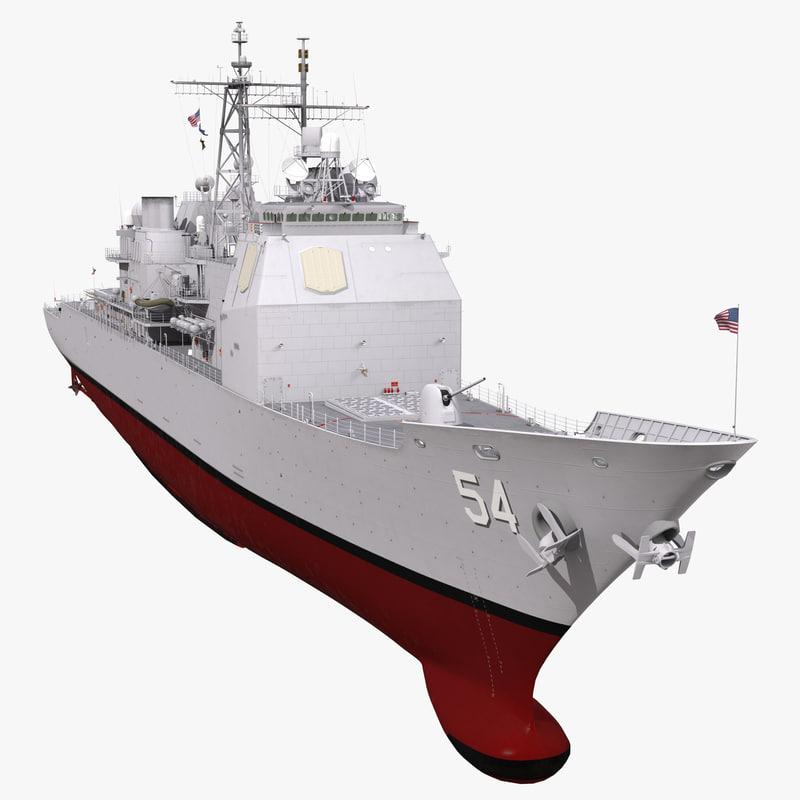 3d ticonderoga class cruiser antietam model