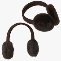 3d earmuffs poses model